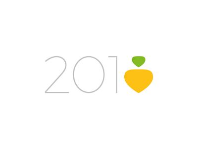 2018 newyear minimal fun type turnip design repa logo