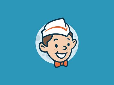 OPIE smile face boy character vintage retro moon grocery milkman milk bottle mascot