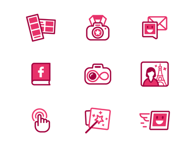 Selfiebooth icons