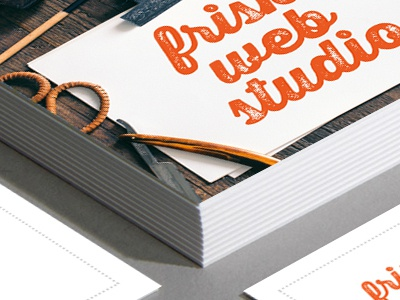 Frisk Web Studio Business Cards print card business card