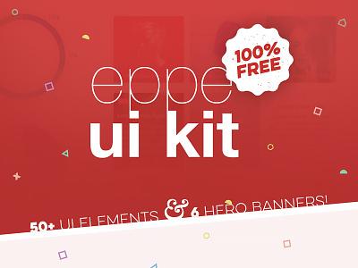 Free Eppe Ui Kit pack bundle kit banner header hero user interface ui freebie free