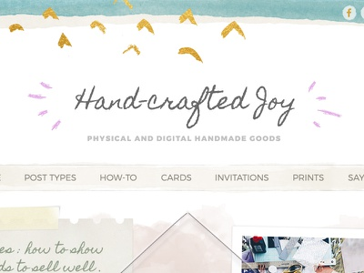 Hand-crafted Joy Wordpress Template feminine watercolor homepage template wordpress hand-crafted