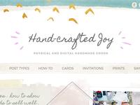 Hand-crafted Joy Wordpress Template