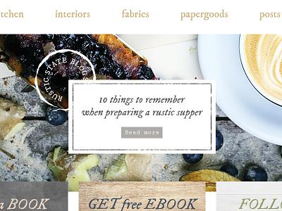 Rustic Wordpress Theme Sneak Peek blog slider header hero rustic site bootstrap layout template wordpress