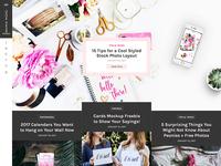 Femme Mini WordPress Blog Layout