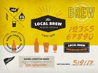 Vintage Logos & Badges Set: Local Brew
