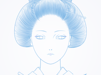 geisha (illustration) wip