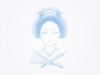 geisha (illustration) wip II