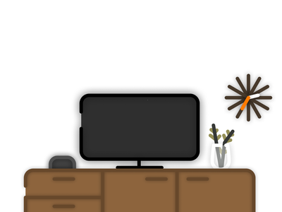 Living Room design illustration graphic design