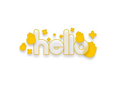 hello hello icon illustration vector design