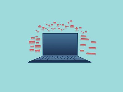 all-consuming all-consuming addiction social media computer graphic design illustration vector design