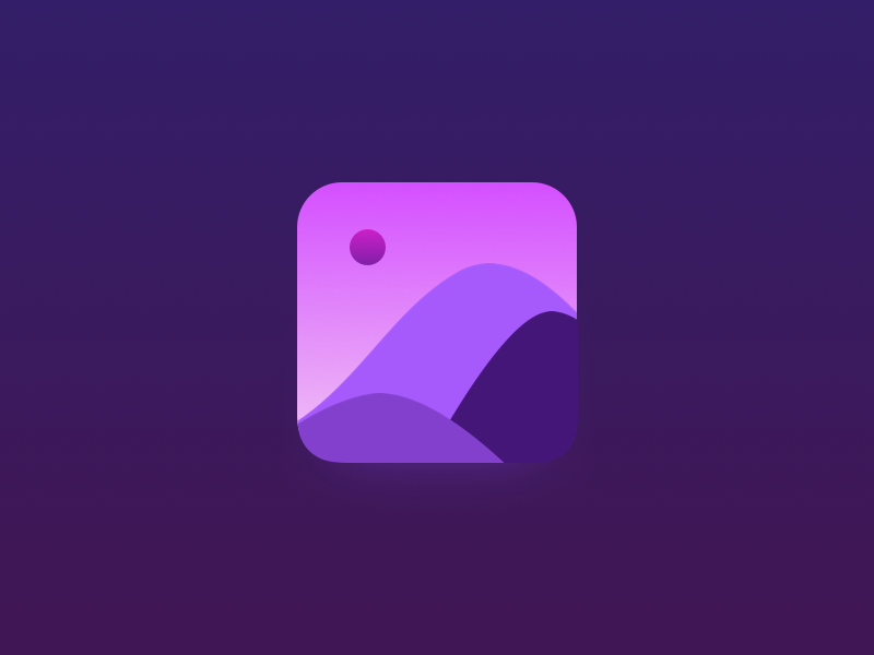 Golden Hour ui golden hour mountain icon design gradients app icon