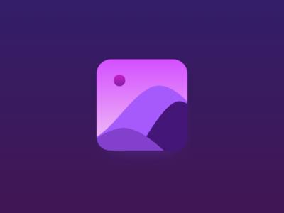 Golden Hour ui golden hour mountain icon design gradients app icon