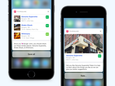 Foursquare - iOS Notifications