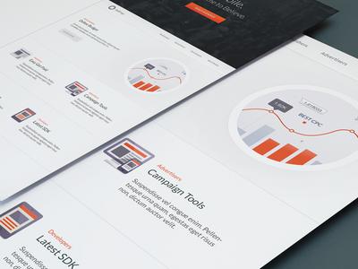AdFrap Homepage website flat ui mobile marketing
