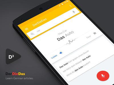 Der Die Das - Learn German articles material design android