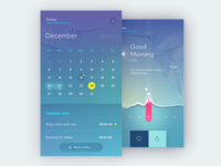 AVA: Pregnancy Tracking Bracelet - calendar & dashboard design