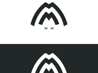 MM mm vector monogram logo icon free forsale design branding