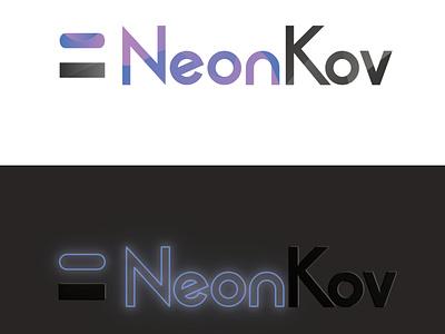 neonkov vector logo design branding