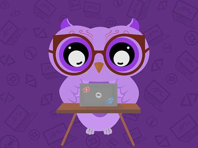The Working Owl owl bird illustration