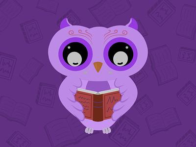 The Study Owl owl bird illustration