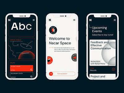 Nacar Space responsive design app ui illustration illustrator web ux vector design branding graphic design