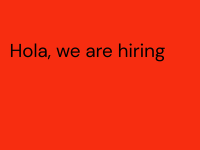Hola, we are hiring! humanresourses jobs hr nowhiring jobsearch hiring work job recruitment trabajo oportunity opencareer jobopen careers joboffer