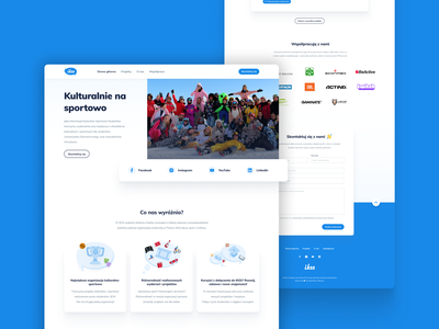 IKSS – website for non-profit student organization landing page csr non-profit student organization ui ux webdesign