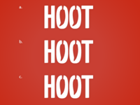 Refining Hoot