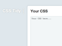 Tidied CSS