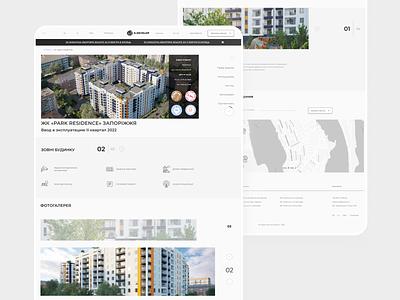 Website ecommerce clean ui landing property design trend product design homepage website landing page webdesign uidesign miimal home rent real estate agency apartment uiux ux