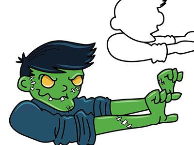 Zombie Boy! zombies zombie logo mascot illustration monstor