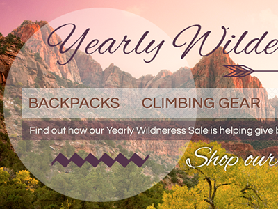Wilderness wilderness camping ecommerce backpacking climbing vintage