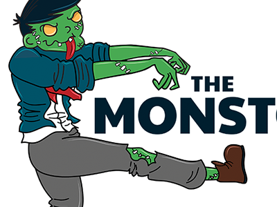 Zombie Logo zombie monster illustration vector logo