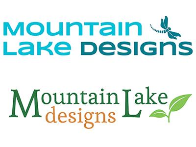 Mountain Lake Designs Logo logo typography branding mountain earth tones design