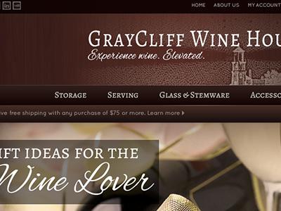 Wine House Design earthtones wine brown design navigation