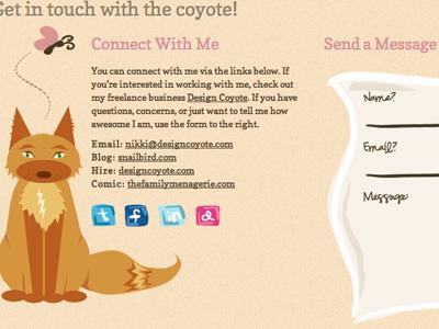 Coyote Tail 02 coyote design portfolio illustration css3