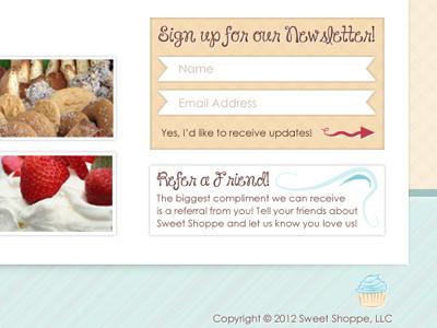 Sweet Shoppe Newsletter newsletter ui widget pastels design