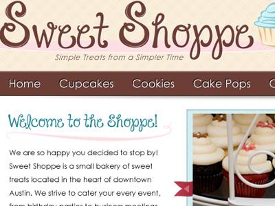 Sweet Shoppe Logo & Banner banner logo cupcakes design treats navigation