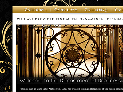 Metal web design design metal ornamental swirls shiny