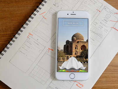 Snapchat Geofilter — New Delhi