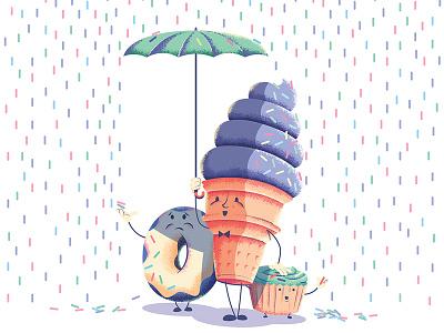 Just a Little Sprinkle sweet cupcake cone ice cream donut bumbershoot rain umbrella sprinkles dessert
