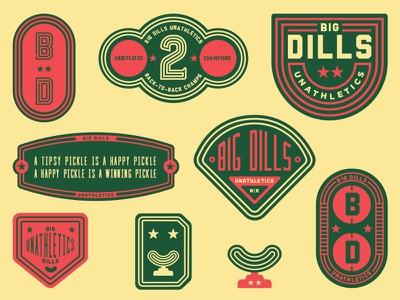 Big Dills Kickball Branding picklebacks kickball pickleback pickles pickle dills dill big
