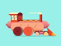 Hot Dog Train
