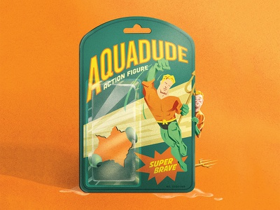 Justice League Jitters toy action figure trident super hero justice league aquaman