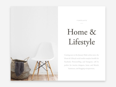 Home & Lifestyle card WIP