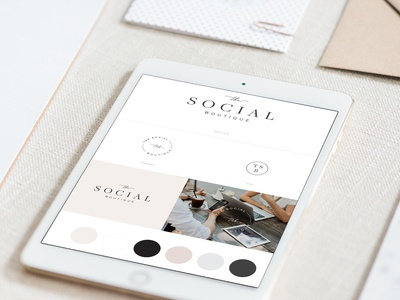 The Social Boutique brandboard