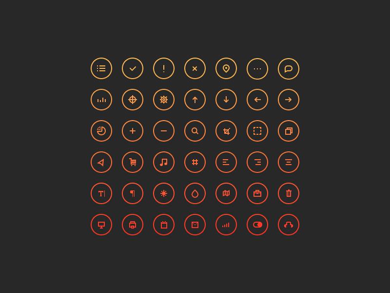 Cir•Cu•Lar Icons icons circles ui set psd freebie free