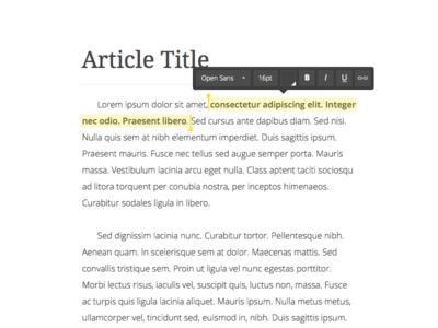 Text Editing text editing format ui font bold italic underline hyperlink