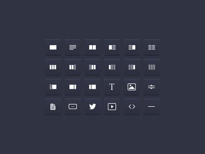 Drag & Drop Elements ui icons buttons elements drag  drop